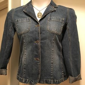 Liz Claiborne Denim Jean Jacket - Size Medium